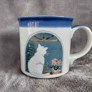 Vintage Otagiri Cat in Window Coffee Mug